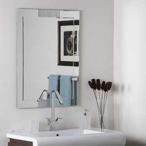 Francisco Large Etched Frameless Mirror