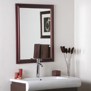 London Mahogany Large Framed Mirror