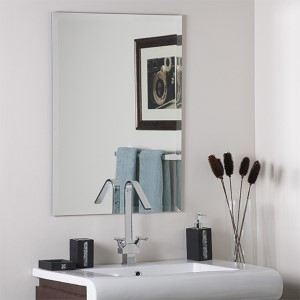 Frameless Square Beveled Mirror
