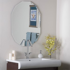 Diamond Shaped Frameless Wall Mirror