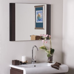 Cappuccino Wood Framed Wall Mirror