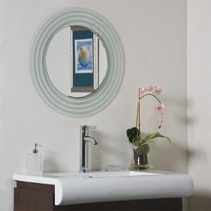 Isabella Round Beveled Frameless Bathroom Mirror