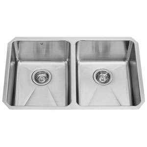 29 X 18 Inch Newhall Stainless Steel Double Bowl Undermount Kitchen Sink