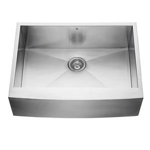 30-inch Camden Farmhouse Stainless Steel Single Bowl Kitchen Sink