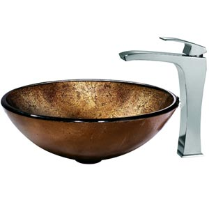 Lava Vessel Sink and Faucet