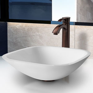 Marie Phoenix Stone Vessel Bathroom Sink Set With Otis Vessel Faucet In Oil Rubbed Bronze