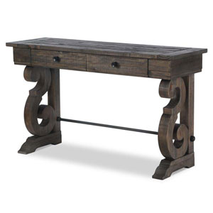 Bellamy Rectangular Sofa Table in Weathered Pine