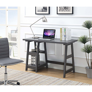 Designs2Go Charcoal Gray Trestle Desk