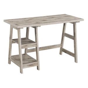 Designs 2 Go Sandstone Particle Board Trestle Desk