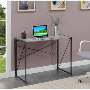 Xtra Faux Birch Black Office Desk