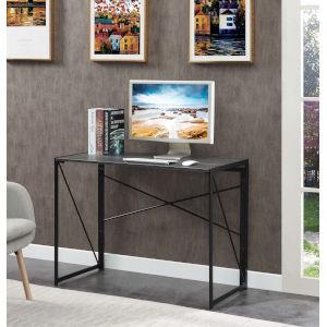 Xtra Charcoal Gray Black Office Desk