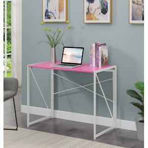 Xtra Pink White Office Desk