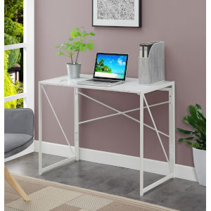 Xtra White Marble Office Desk