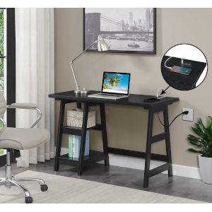 Designs2Go Black Office Desk