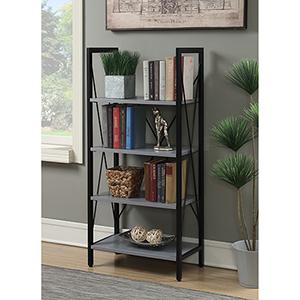 Designs2Go Gray and Black Carly Bookcase