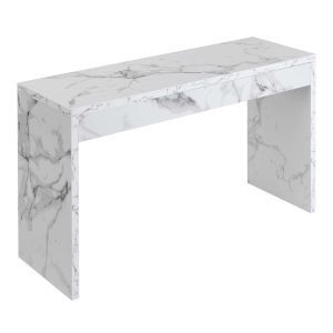 Northfield White Faux Marble Hall Console Table