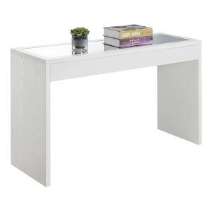 Northfield White Honeycomb Particle Board Mirrored Console Table