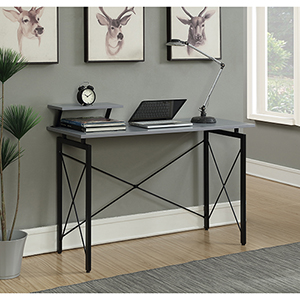 Designs2Go Gray and Black Carly Desk