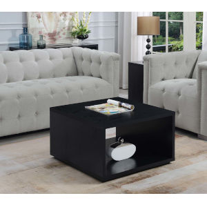 Northfield Black 32-Inch Square Coffee Table