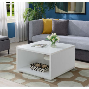 Northfield White 32-Inch Square Coffee Table