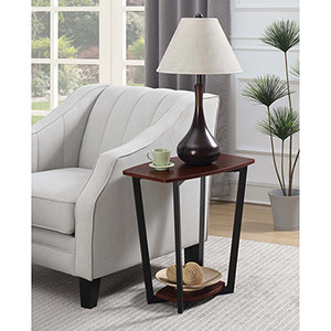 Graystone Cherry End Table with Black Frame