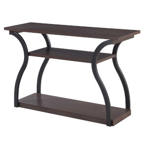 Meadowlark Espresso Black Frame Particle Board Console Table