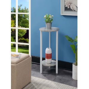 Graystone White 32-Inch Plant Stand