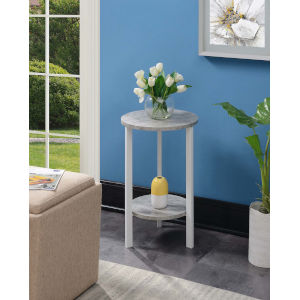 Graystone White 24-Inch Plant Stand