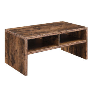 Northfield Admiral Barnwood Deluxe Coffee Table with Shelves