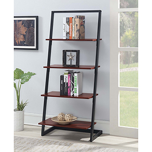 Graystone Cherry Four Tier Ladder Bookshelf
