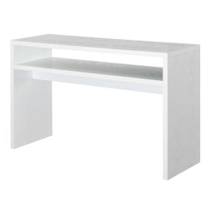 Northfield White Honeycomb Particle Board Deluxe Console Table