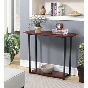 Graystone Cherry Console Table with Black Frame