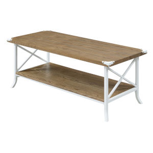 Brookline Driftwood White MDF Coffee Table