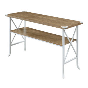 Brookline Driftwood White MDF Console Table