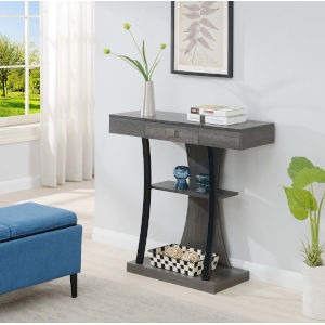 Newport Charcoal Gray 12-Inch Console Table