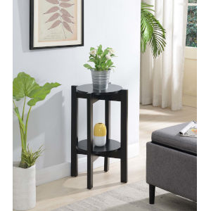 Newport Black 24-Inch Plant Stand