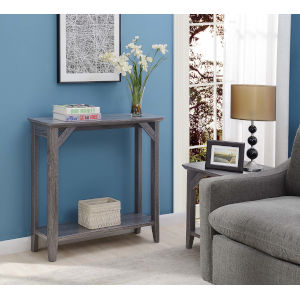 Winston Weathered Gray 12-Inch Hall Table
