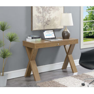 Newport Driftwood 18-Inch Desk with Drawer