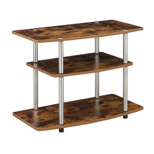 Designs2Go Barnwood Three-Tier TV Stand