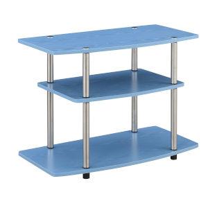 Designs2Go Blue Three-Tier TV Stand
