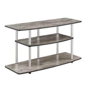 Designs2Go Faux Birch Three-Tier TV Stand