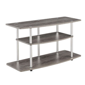 Designs2Go Weathered Gray Three-Tier TV Stand