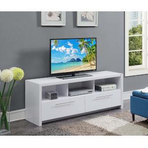 Newport White 60-Inch TV Stand