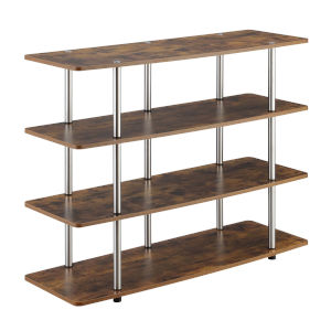 Designs2Go Barnwood Highboy Four-Tier TV Stand