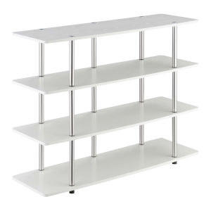 Designs2Go White Highboy Four-Tier TV Stand