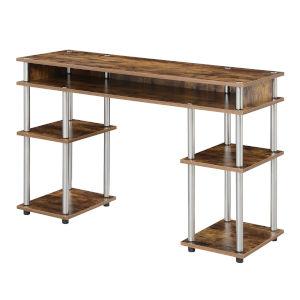 Designs2Go Barnwood Student Desk with Shelves