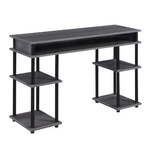 Designs2Go Charcoal Gray and Black Student Desk
