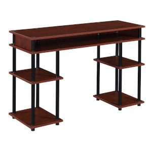Designs2Go Cherry and Black Student Desk