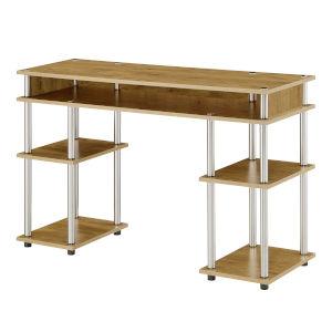 Designs2Go English Oak Student Desk with Shelves