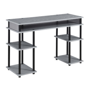 Designs2Go Gray and Black Student Desk